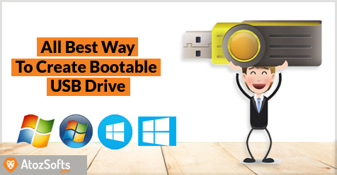 How To Create Bootable Usb Flash Drive From An Iso Atozsofts