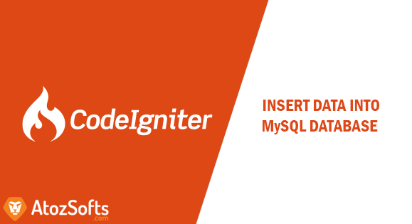 How to insert data into database in CodeIgniter